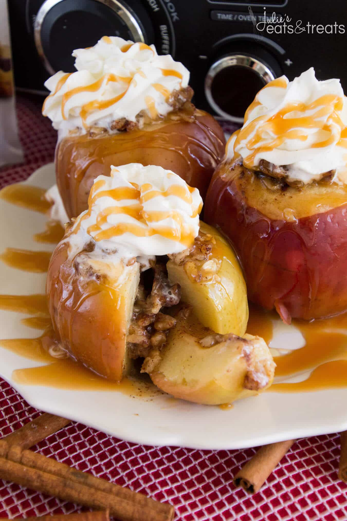 , Apples Stuffed with Oatmeal, Brown Sugar and Walnuts then Baked ...