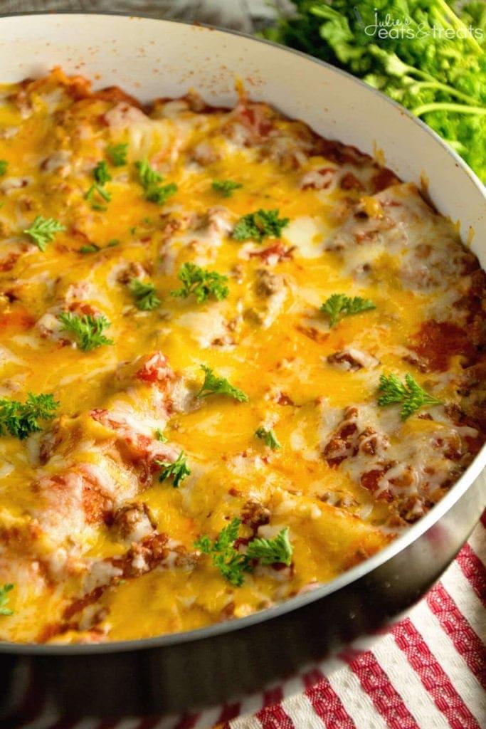 Pan of Skillet Lasagna