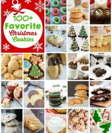 100+ Christmas Cookie Recipes from Your Favorite Bloggers! Everything from Cut Out Cookies, Thumbprint Cookies to Drop Cookies! A Cookie for Everyone to Enjoy!