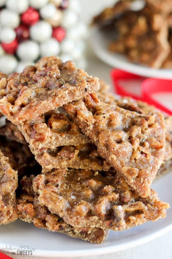 Peanut Butter Graham Cracker Toffee Recipe - Julie's Eats