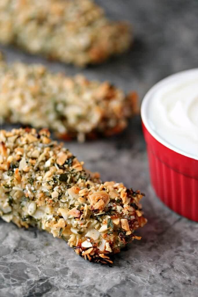 Almond-Crusted-Chicken-Breasts-with-Almond-Dipping-Sauce-1