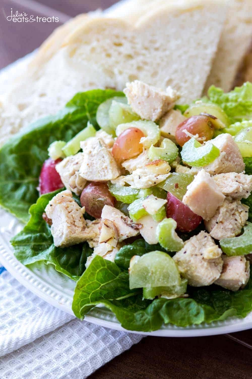 Light And Healthy Chicken Salad Recipe Julie S Eats