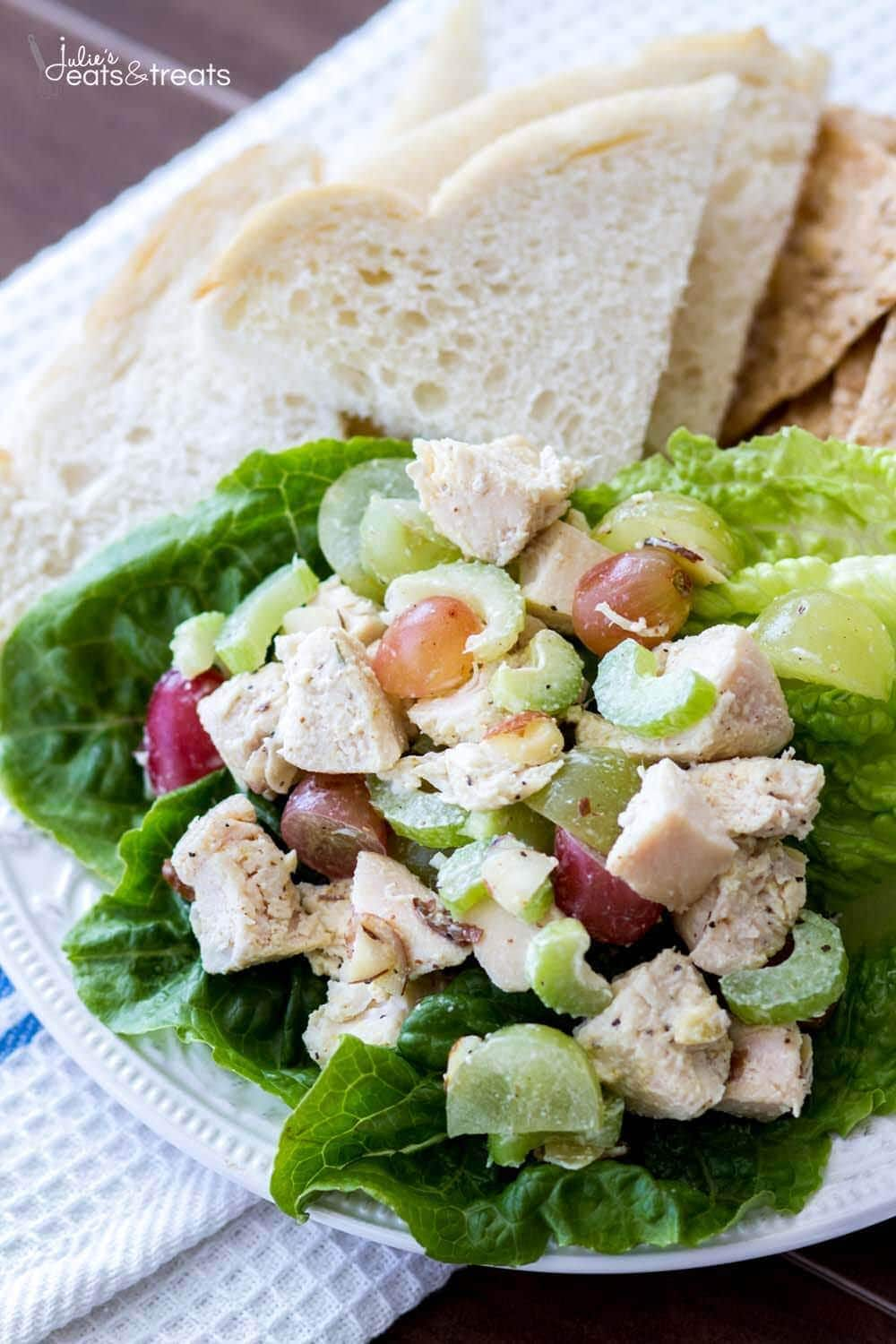 Light And Healthy Chicken Salad Recipe Julie S Eats Treats