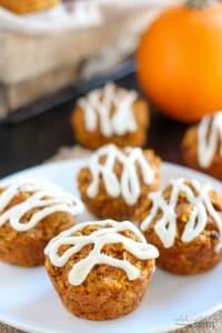 Healthy Pumpkin Carrot Apple Muffins