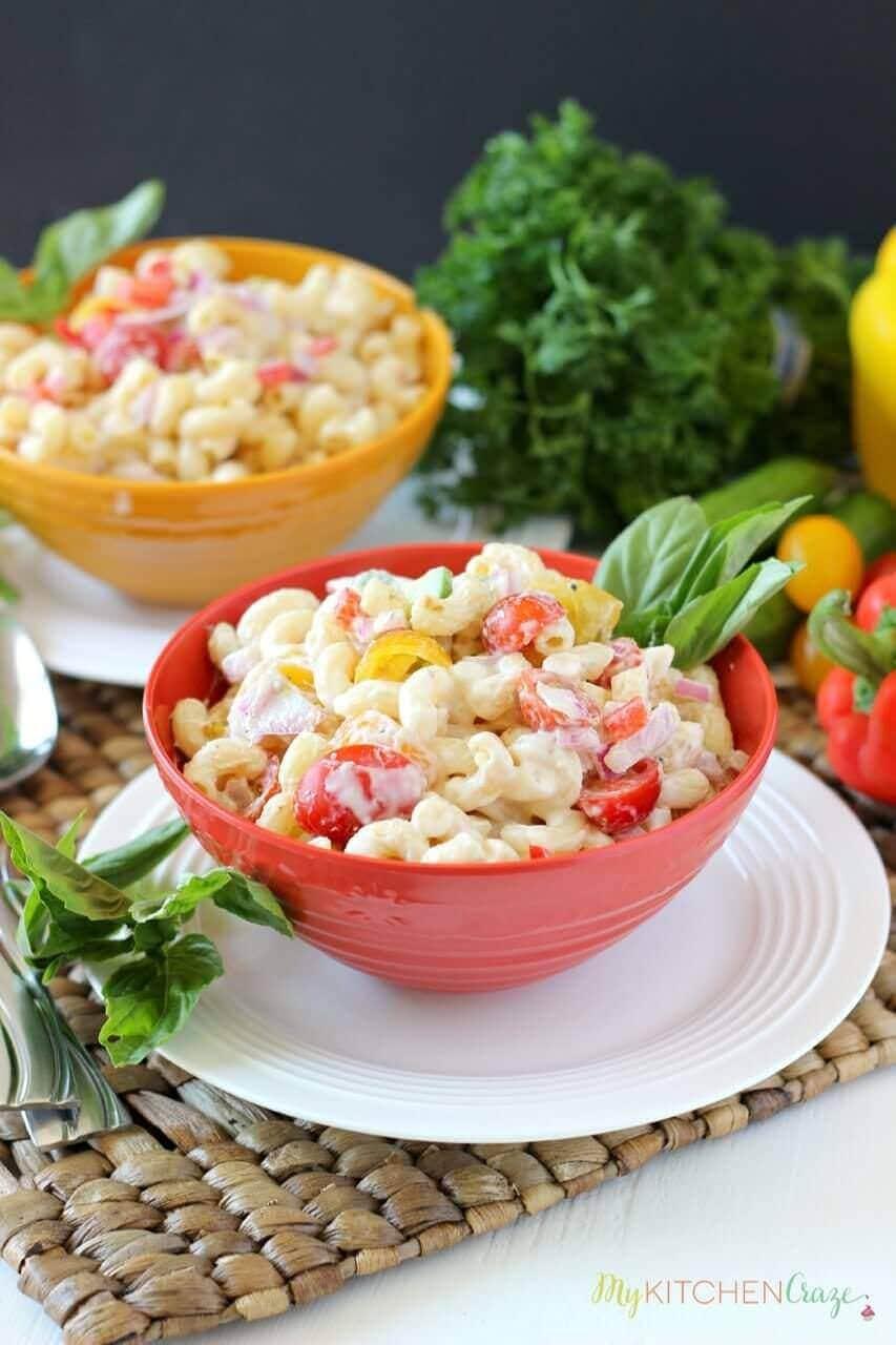 Pasta Salad {Lite & Healthy} - mykitchencraze.com