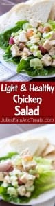 Light and Healthy Chicken Salad Recipe posted by MICHELLE VERKADE on JANUARY 10, 2016 0 Comments Light and Healthy Chicken Salad Recipe ~ This quick and easy chicken salad recipe is low-calorie, can be made ahead of time, and perfect on a sandwich or as an appetizer!