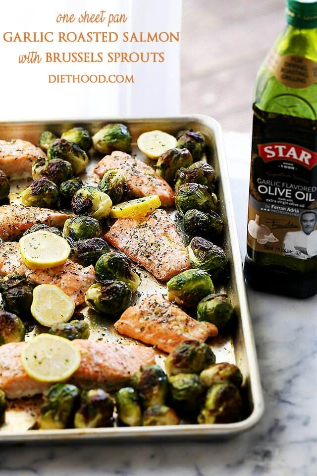 One-Sheet-Pan-Garlic-Roasted-Salmon-with-Brussels-Sprouts