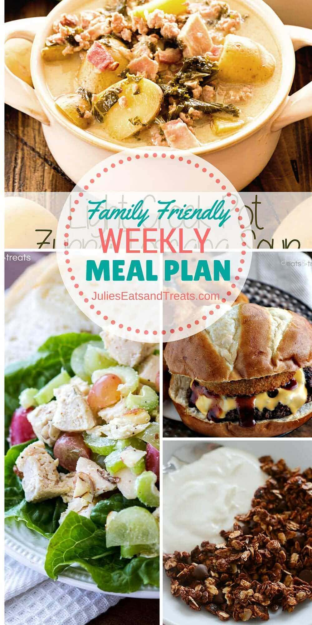 Julie's Easy Meal Plan ~ Simple every day meals for the busy family! Simple, Easy & Delicious Recipes!
