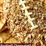 Football Cheeseball - A fun appetizer recipe that is super easy and perfect for game day snacking!