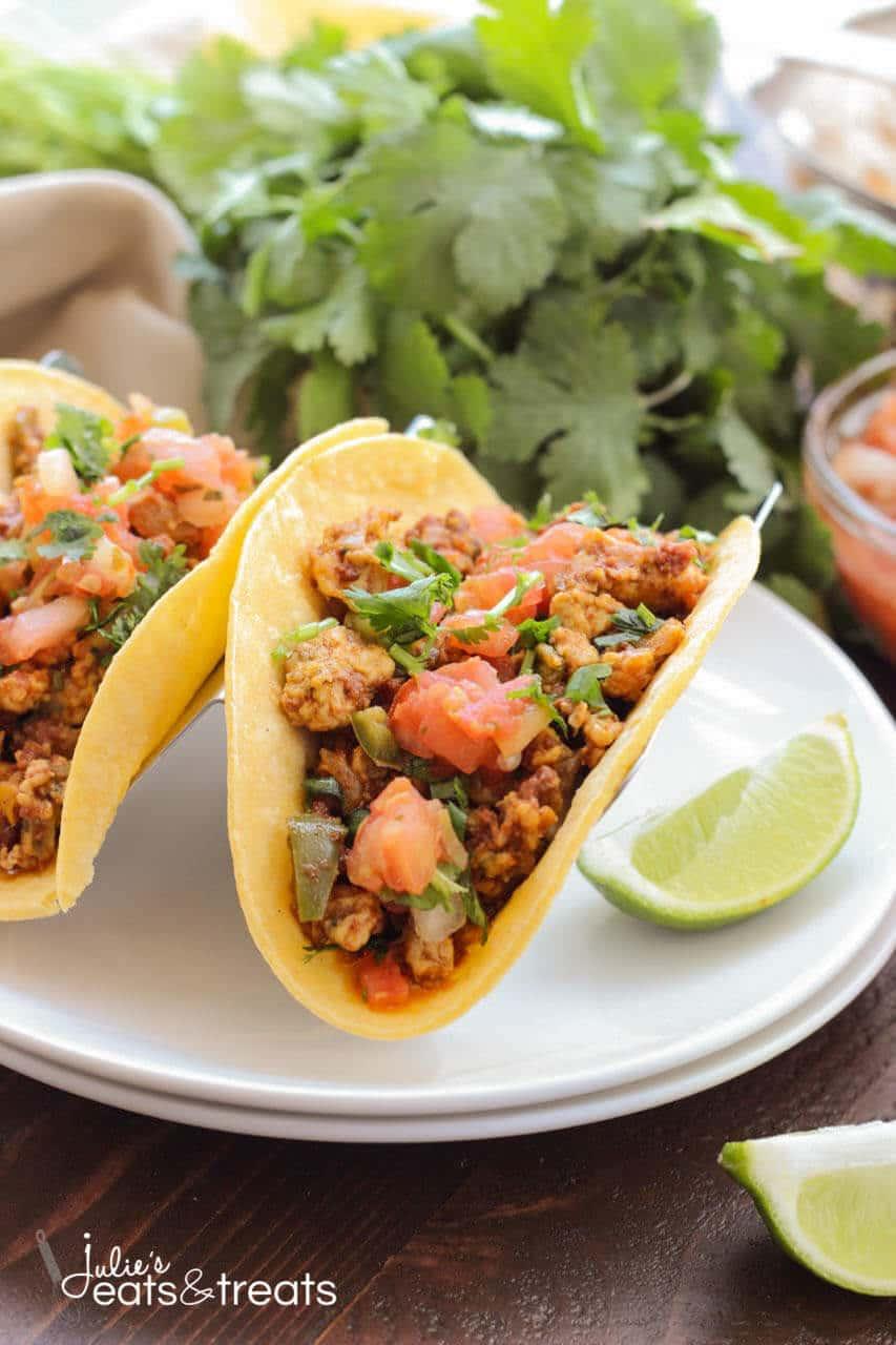 Chorizo Scrambled Eggs Breakfast Tacos Recipe — Dishmaps