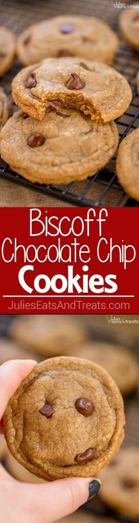 Biscoff Chocolate Chip Cookies - Chewy, soft and incredibly flavorful chocolate chip cookies thanks to the addition of Biscoff!