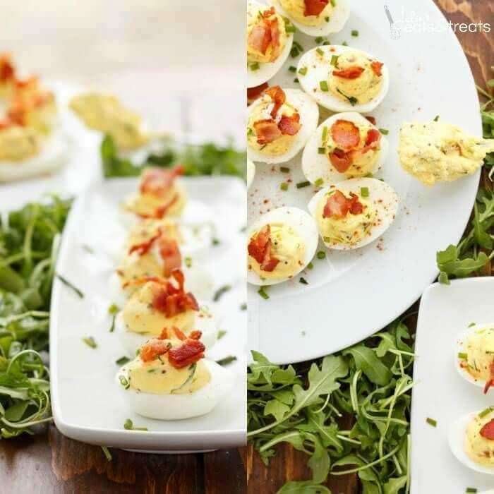 Sour Cream, Chive, and Bacon Deviled Eggs Recipe ~ Creamy Deviled Eggs ...