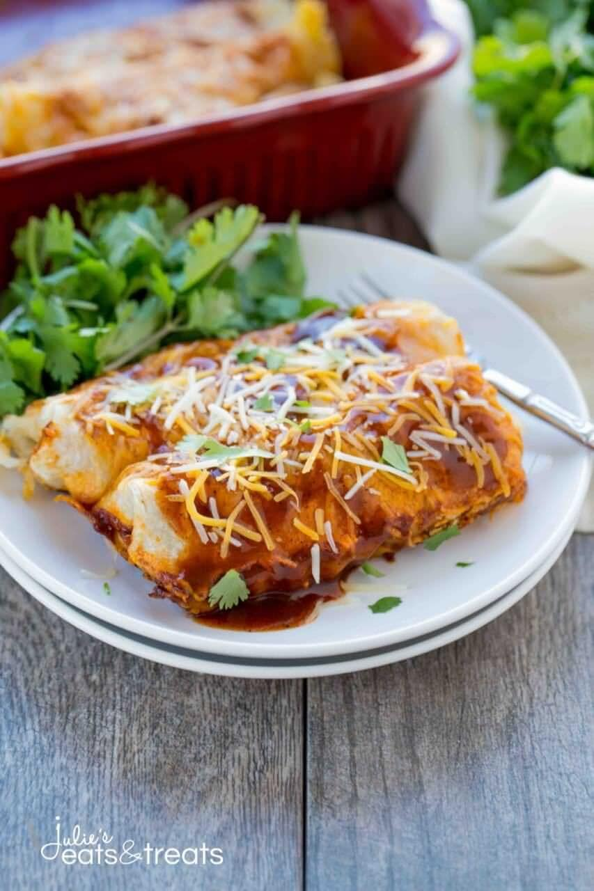 Potato Enchiladas on plate