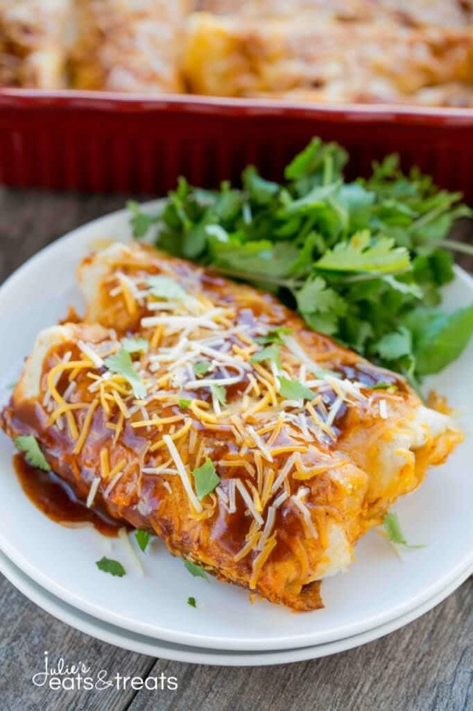 Easy Dinner Party Main Course Ideas Part - 17: ... Recipe U2013 Julieu0027s Eats And Treats. Beef U0026 Potato Enchiladas ~ Loaded  With Delicious Ground Beef, Crispy Potatoes, Vegetables Then