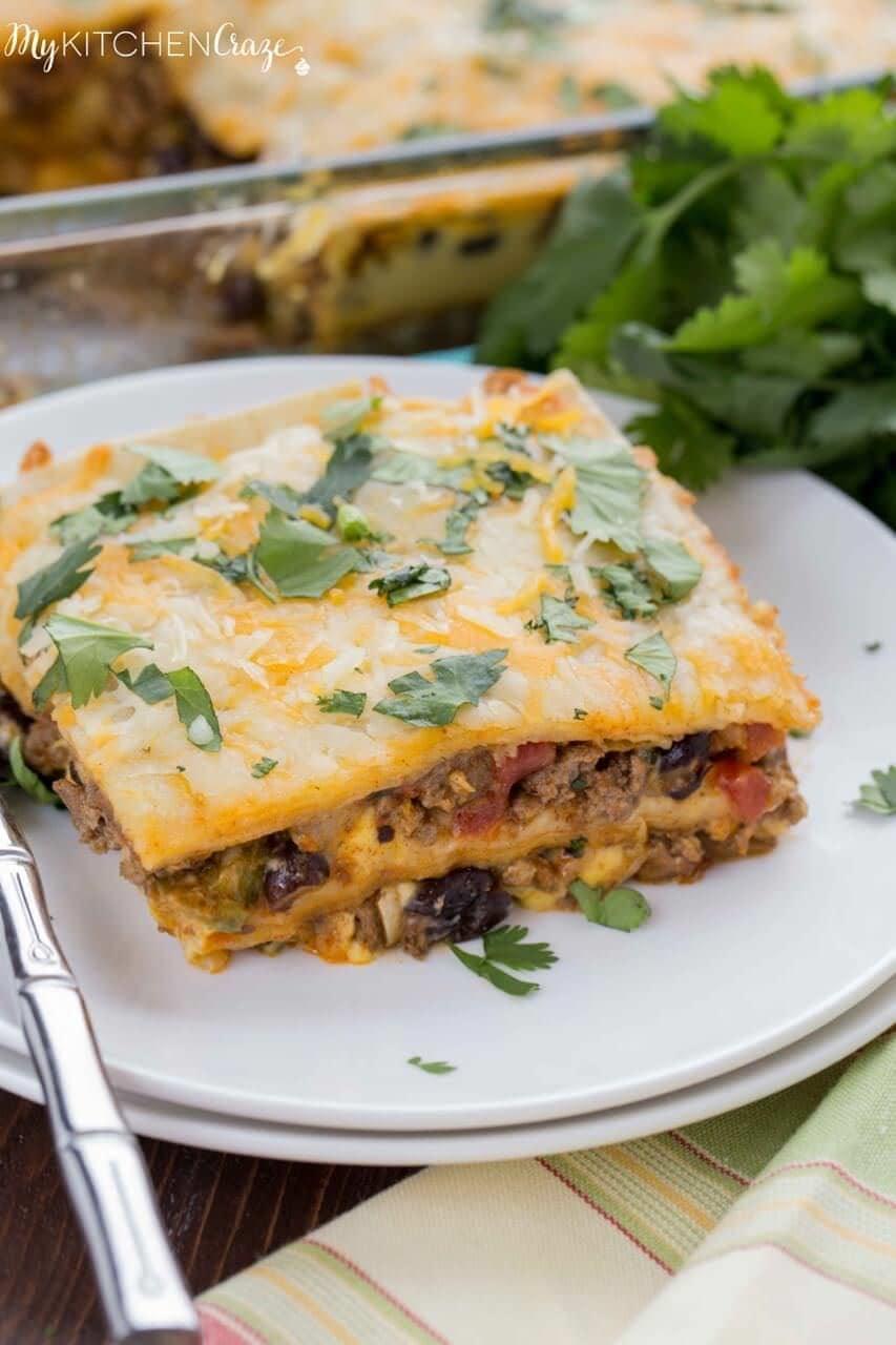 Cheesy Burrito Casserole ~ mykitchencraze.com