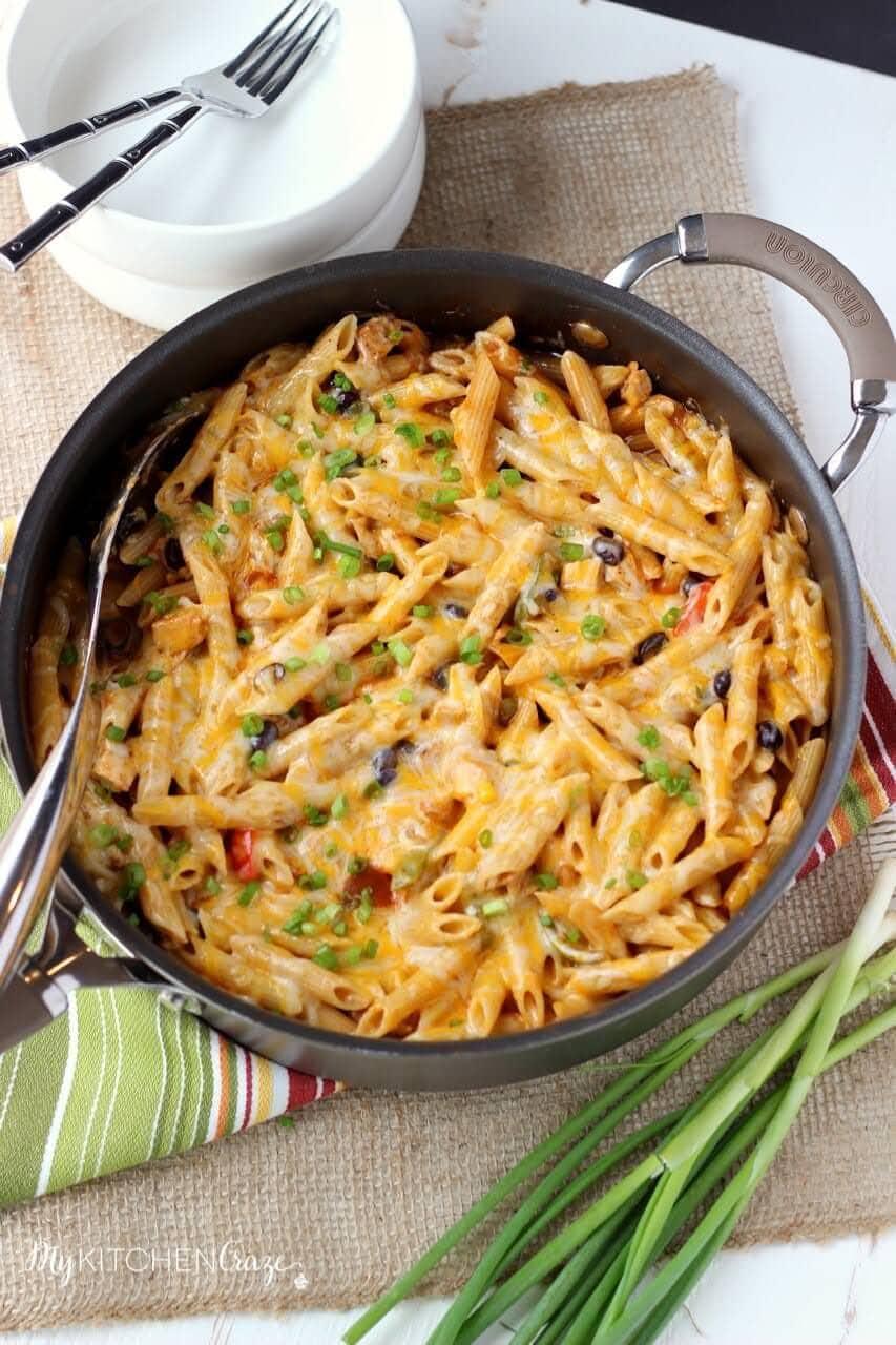 Four Cheese Enchilada Pasta ~ mykitchencraze.com