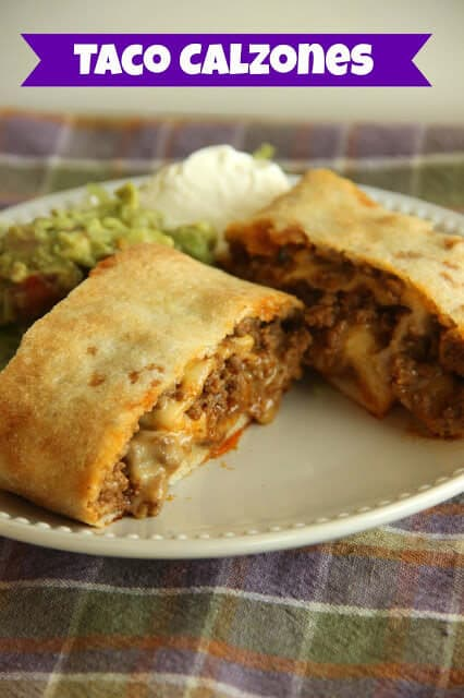 Taco Calzones - An easy weeknight meal idea!