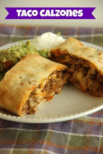 Taco Calzones - An easy weeknight meal idea!