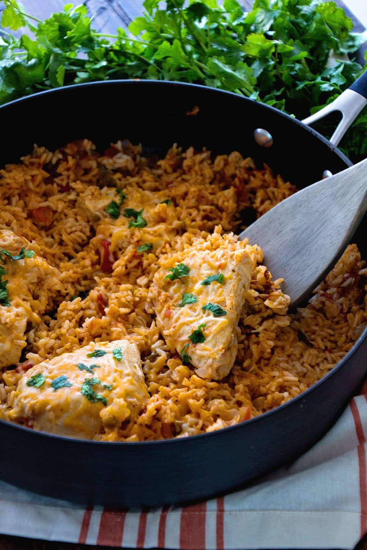 One Pot Fiesta Chicken Rice Recipe Quick Easy One Pot Dinner With A