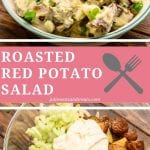 Pin Image for Roasted Red Potato Salad
