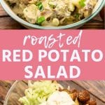 Pinterest Image for Roasted Red Potato Salad