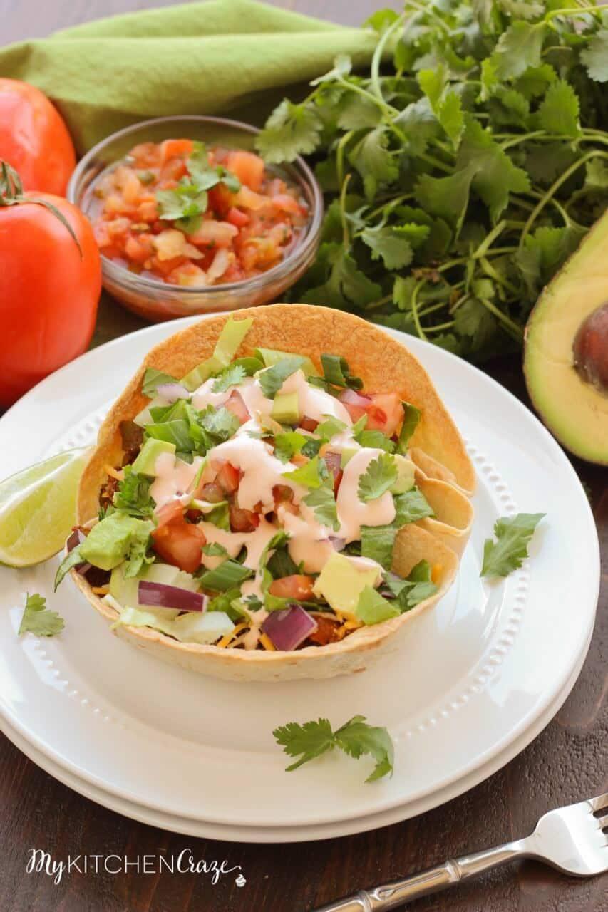 Tex Mex Taco Salad ~ mykitchencraze.com