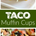 Taco Muffin Cups Recipe - These little muffins made with pizza dough and filled with ground beef and taco fixings make a perfect easy weeknight dinner idea!