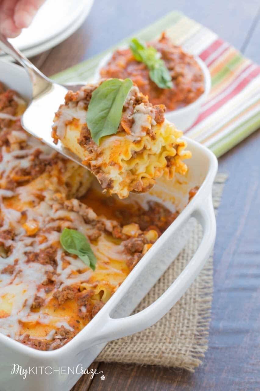 Lasagna Roll Ups ~ mykitchencraze.com
