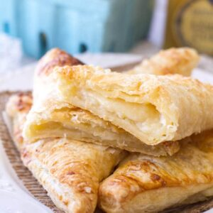 This easy lemon cream turnover recipe uses only 6 ingredients, making them a quick and easy breakfast, snack or dessert!