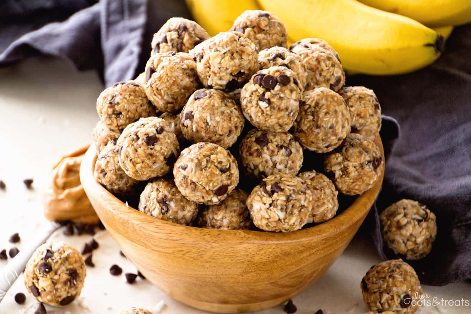 No Bake Chocolate Banana Energy Balls Recipe Julie S