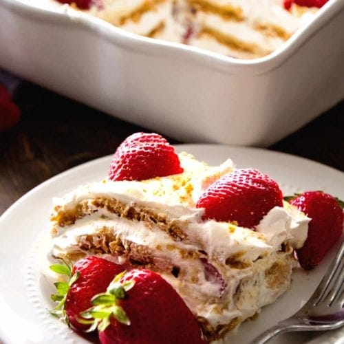 No Bake Strawberry Dessert Recipe: No Bake Strawberry Cheesecake Icebox Cake Recipe
