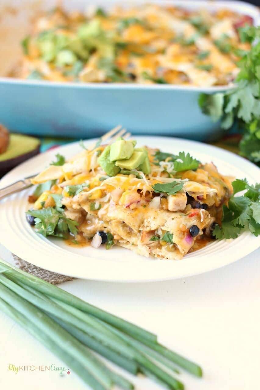 Southwest Chicken Tortilla Bake ~ mykitchencraze.com