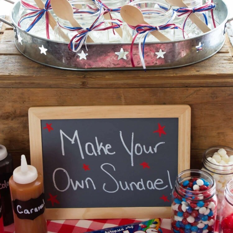 DIY Sundae Ice Cream Bar Party ~ Cool Off this Summer with a Festive DIY Sundae Bar! Grab Your Ice Cream, Toppings and Indulge in This Fun Treat! Perfect for a Summer Party!