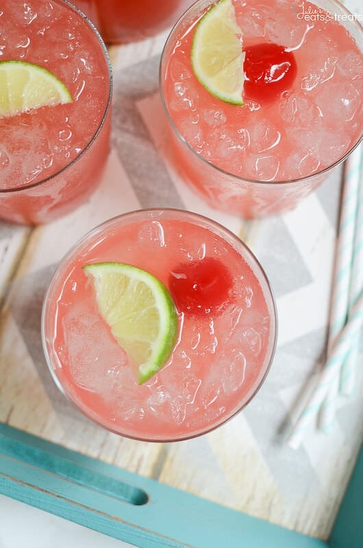 Sparkling Cherry Limemade - the perfect refreshing summer drink!
