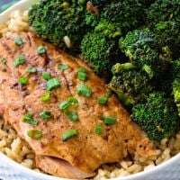 Teriyaki Salmon & Broccoli Bowls ~ Delicious, Healthy Dinner That's Quick and Easy to Prepare! Only Four Ingredients and Ready in 30 Minutes!