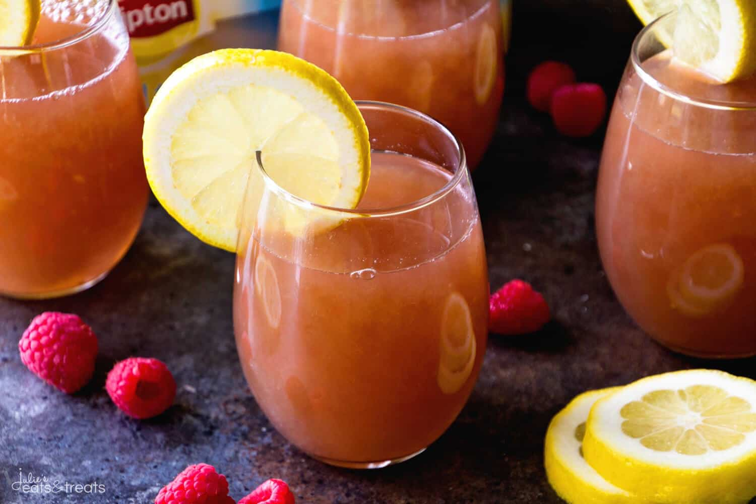 Raspberry Lemonade Iced Tea ~ Easy, Delicious and Refreshing Iced Tea Recipe that is Flavored with Raspberries and Lemonade!