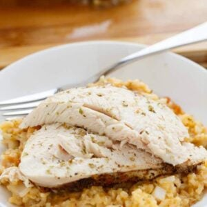 Crock Pot Chicken and Rice Dinner ~ Whole Chicken and Rice in the Slow Cooker Flavored with Onions and Spices! You can't Go Wrong with this Meal in the Crock Pot!