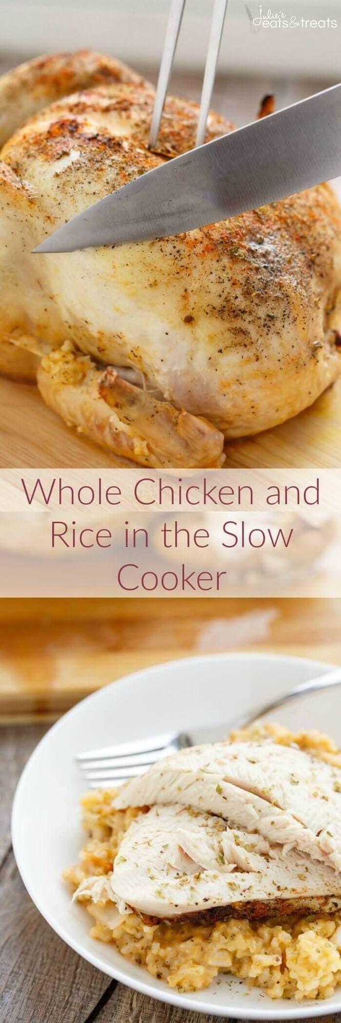 crock pot chicken and rice dinner julie 39 s eats treats. Black Bedroom Furniture Sets. Home Design Ideas