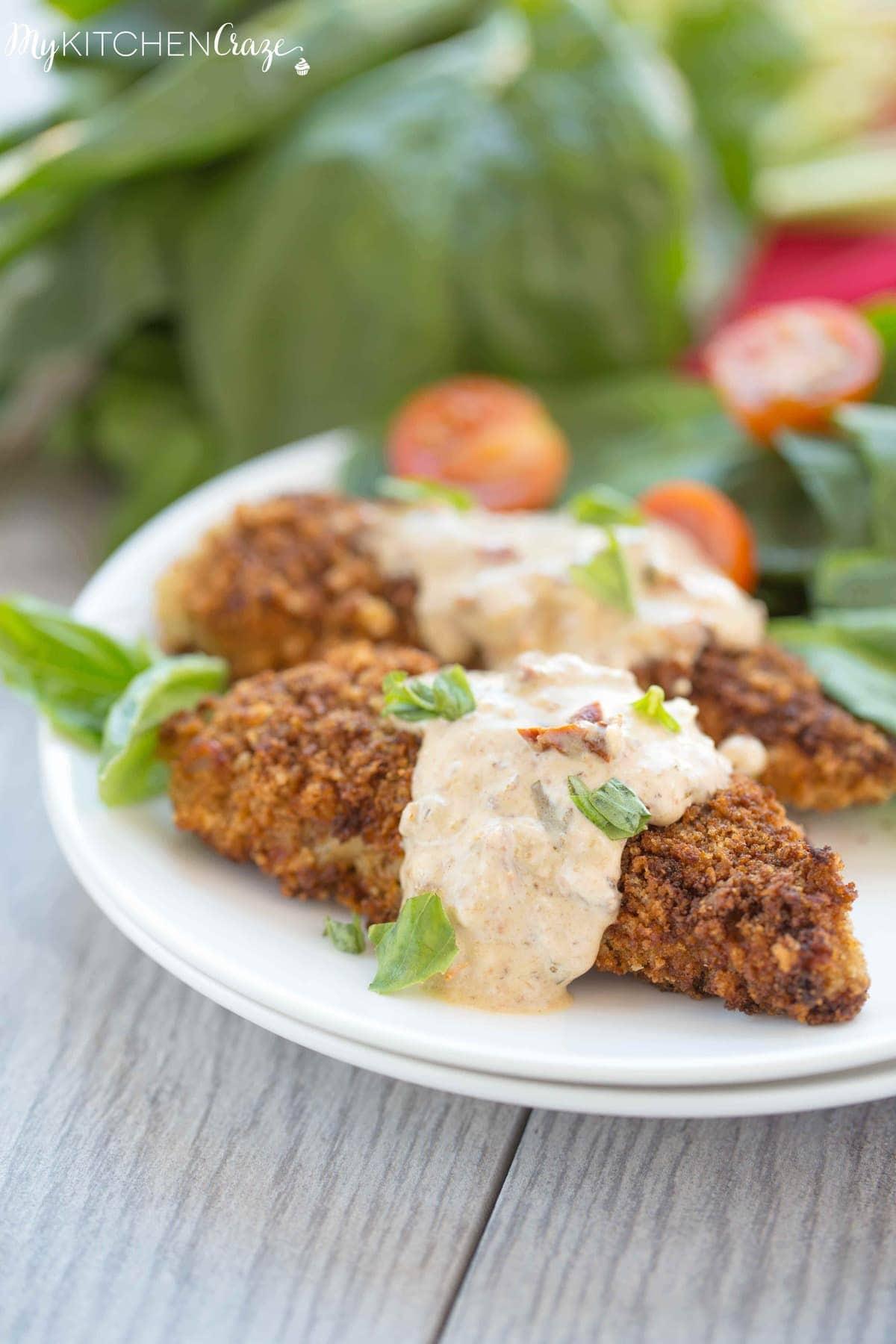 Chicken with Basil Cream Sauce ~ mykitchencraze.com