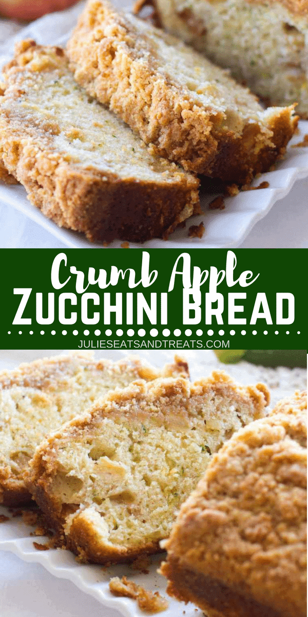 crumb apple zucchini bread  video  julie's eats  treats