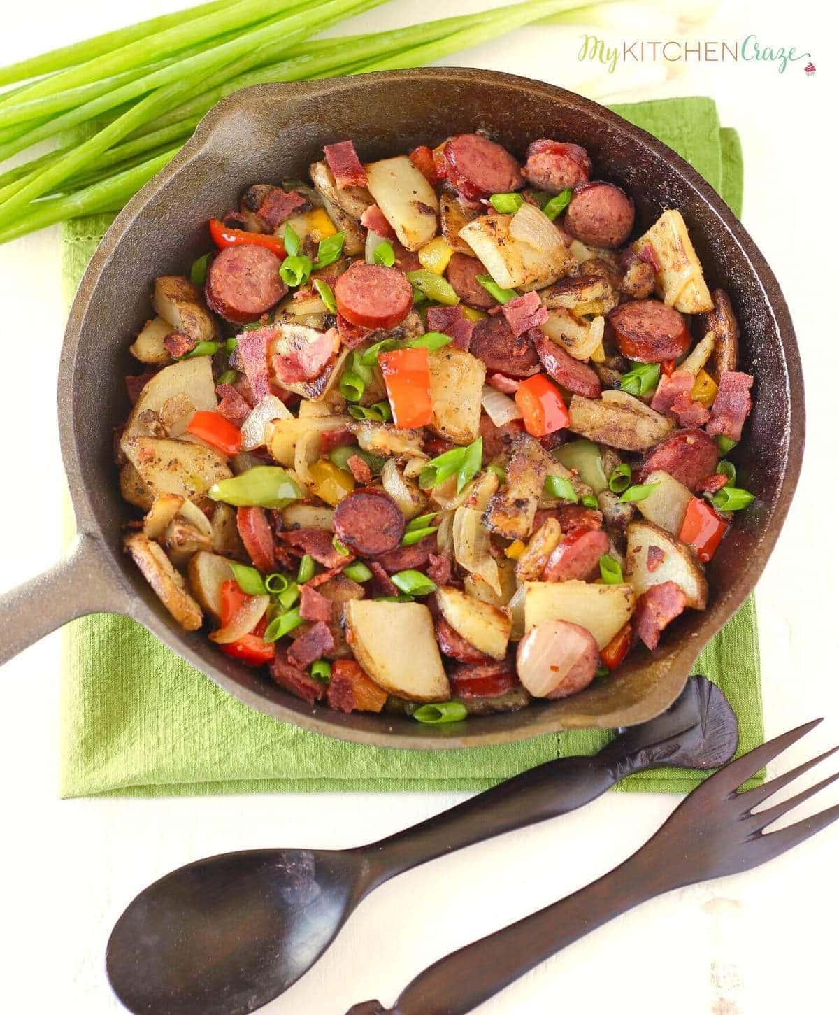 Beef Kielbasa & Potato Skillet ~ mykitchencraze.com