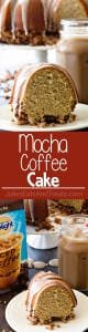 Mocha Coffee Cake ~ Delicious and Easy Coffee Cake Perfect for Breakfast, Brunch or a Snack! Tender, Moist Coffee Cake Drizzled in Mocha Icing!