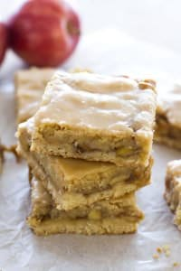 Maple Glazed Apple Blondies by A Latte Food