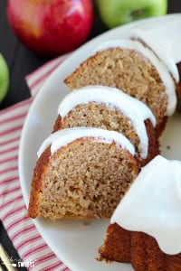 Apple Bundt Cake with Cream Cheese Frosting