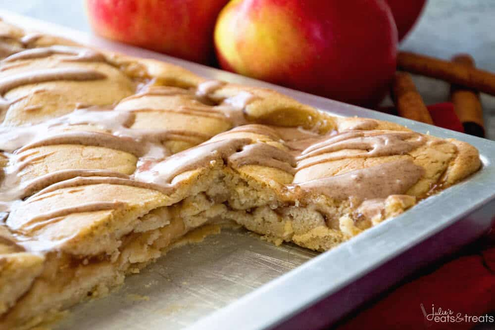 Apple Pie Bars Recipe made in sheet pan