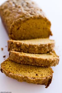 Classic Pumpkin Streusel Bread by A Latte Food