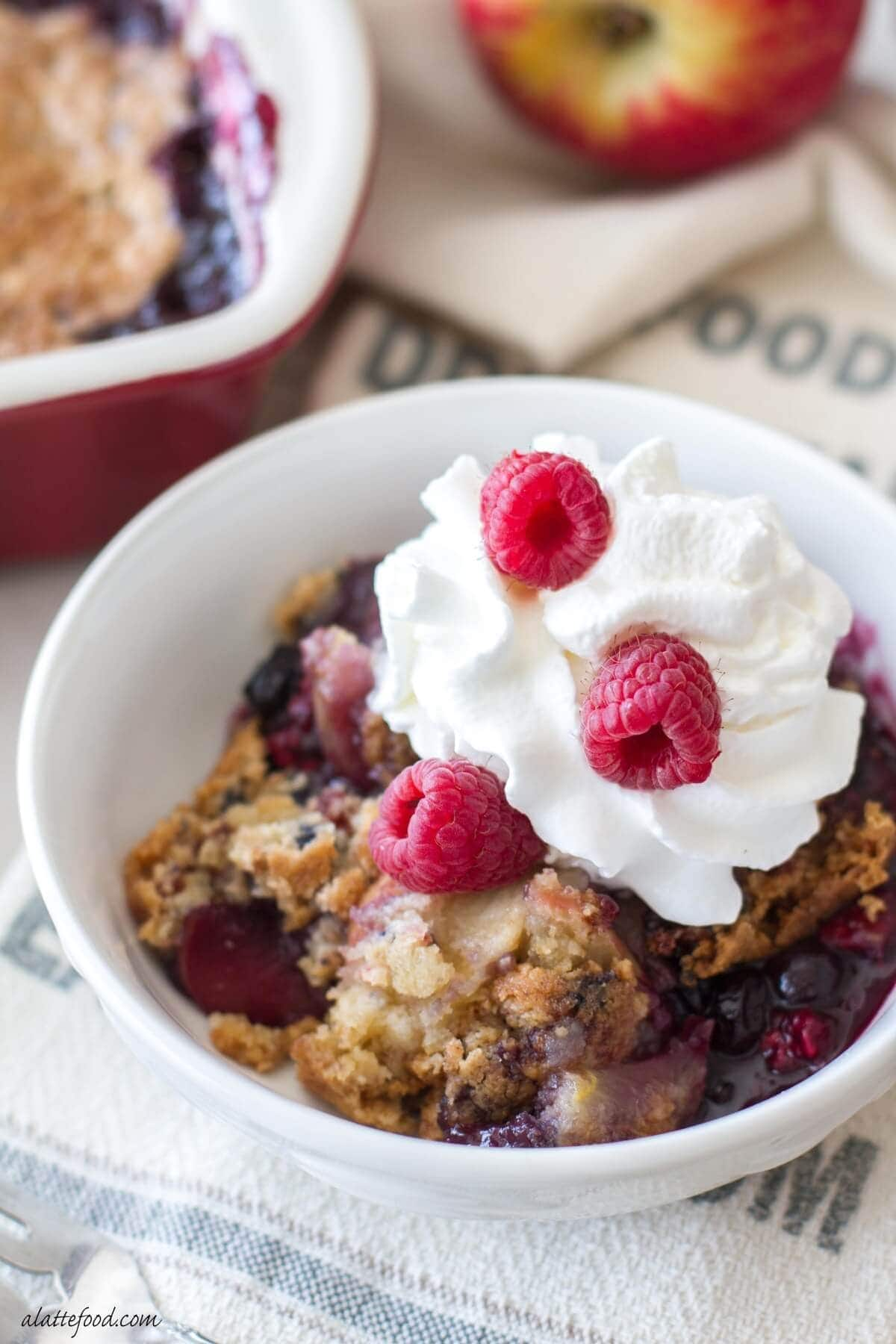 Apple Berry Cobbler by A Latte Food