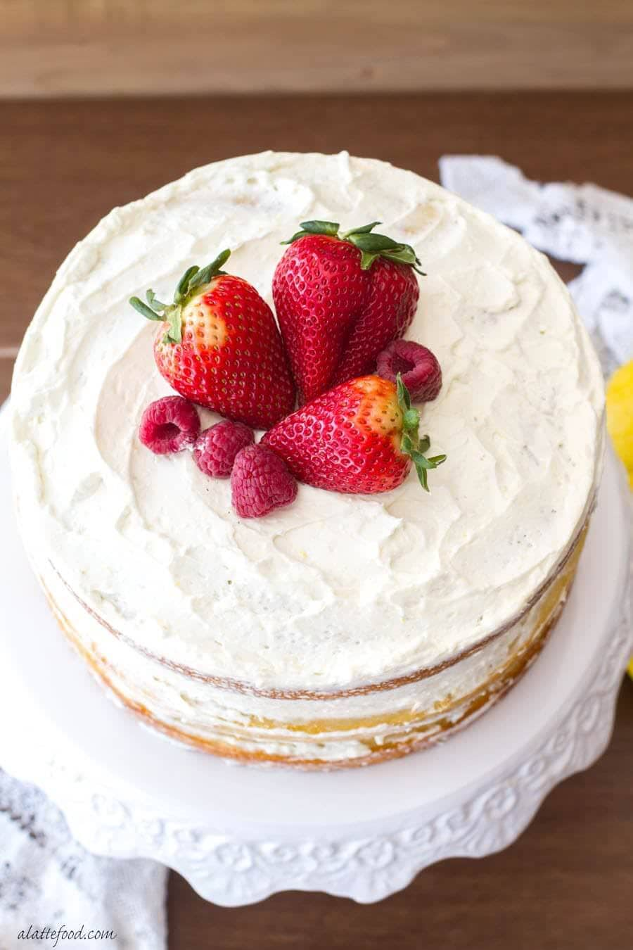 Berry Vanilla Cake by A Latte Food
