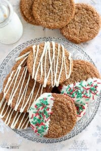 Big Chewy Ginger Molasses Cookies - Celebrating Sweets