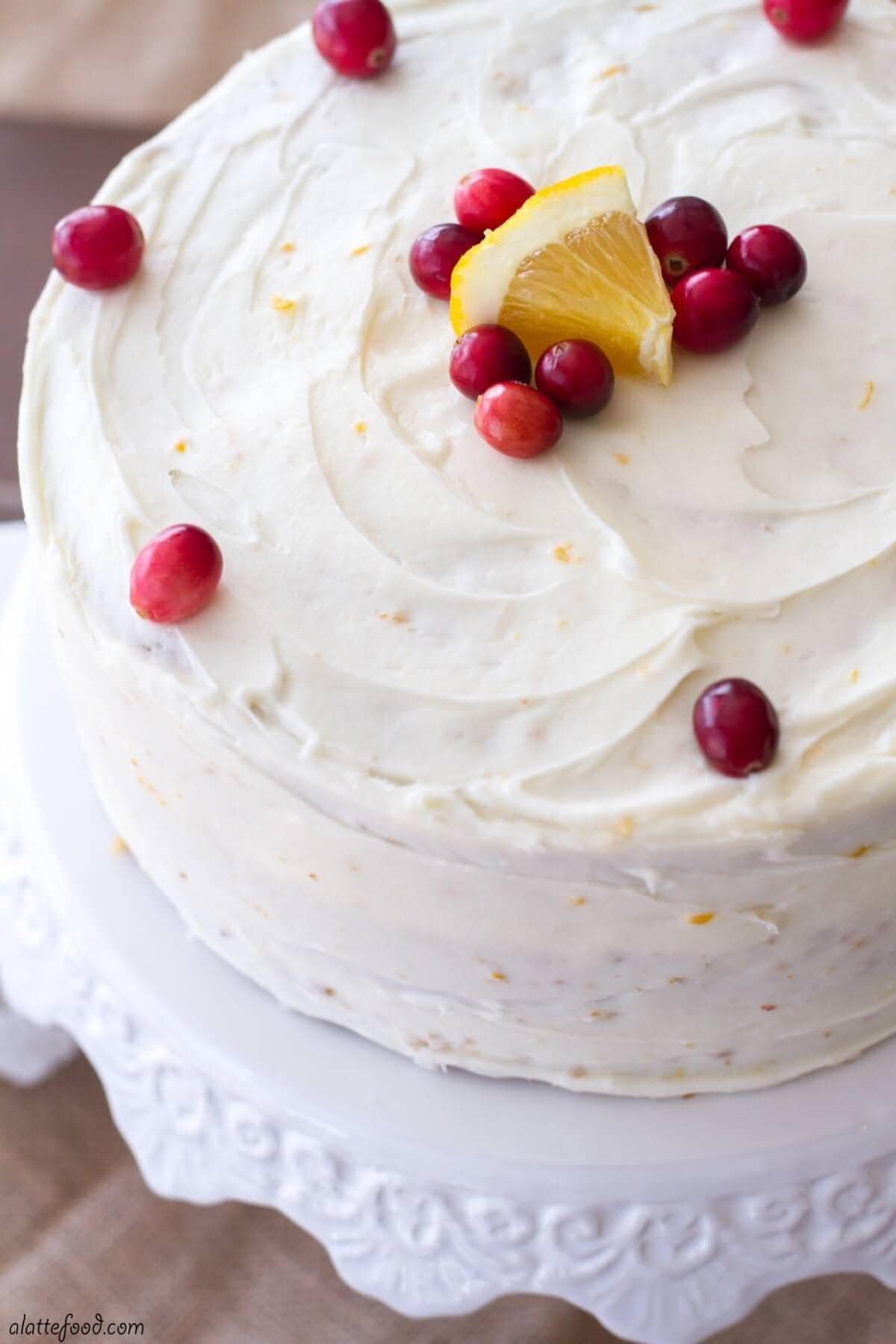 Cranberry Orange Cake by A Latte Food